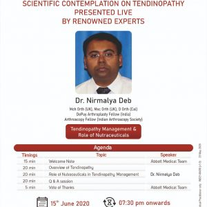 SCIENTIFIC CONTEMPLATION ON TENDINOPATHY PRESENTED LIVE BY RENOWNED EXPERTS